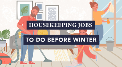 Housekeeping jobs to do before winter