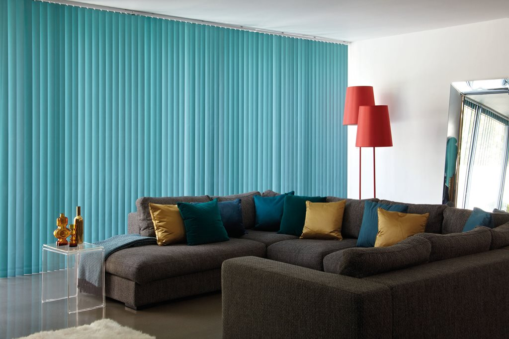 Vertical blinds for larger windows