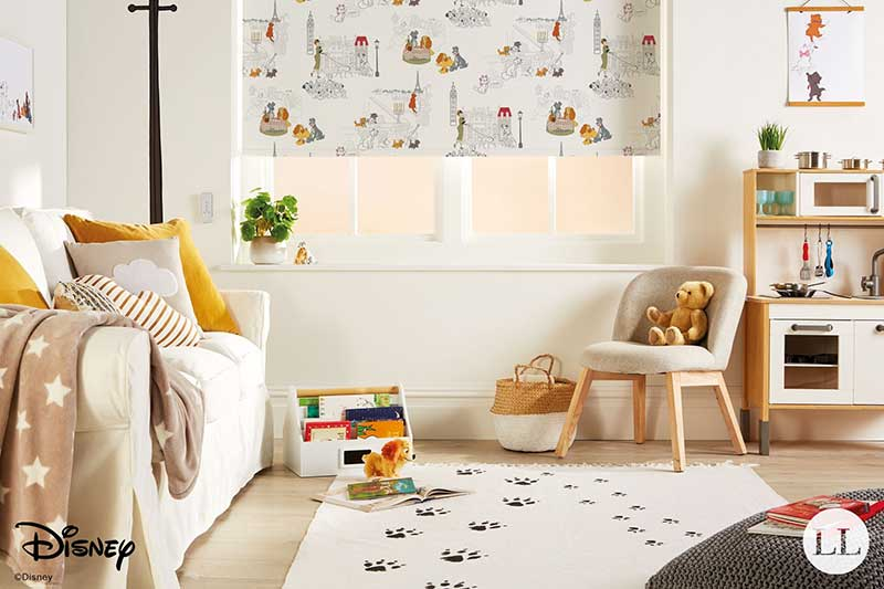 Disney Classics Roller blinds in a nursery