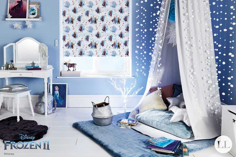 Disney Collection Frozen 2 Fantasy roller blind in a playroom