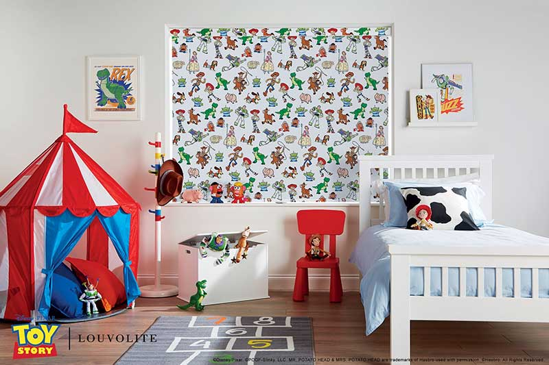 Disney Collection Pixar Toy Story roller bind in a kid's bedroom
