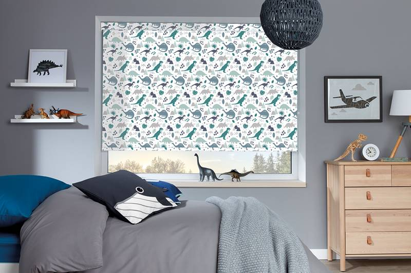 Roman blind in children bedroom
