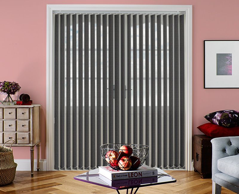 Oslo Graphite Vertical Blind
