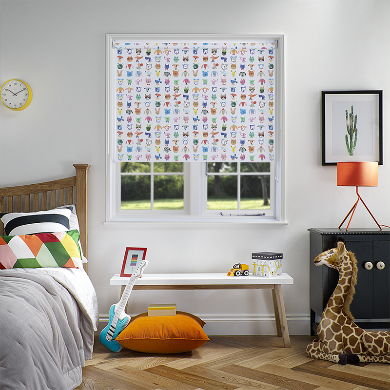 Party Animals blackout boogie roller blind