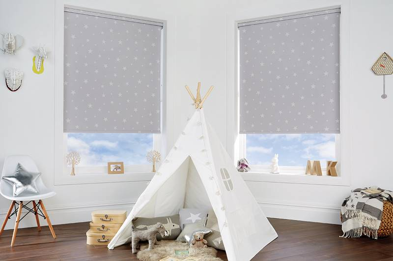 Children roller blind playroom