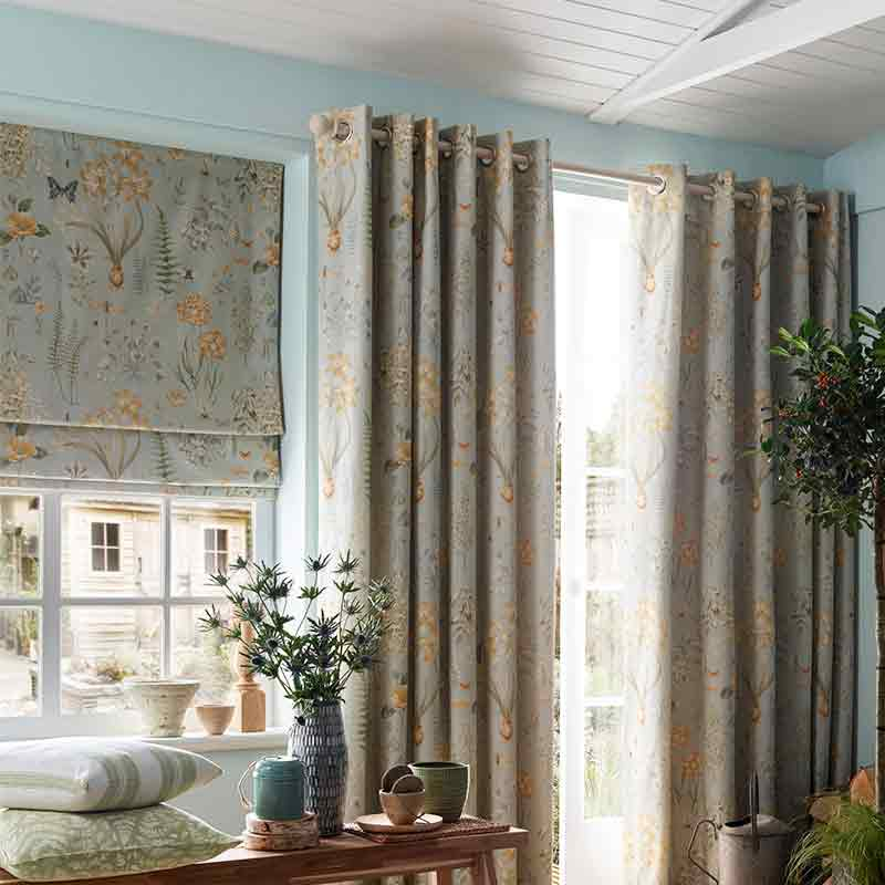 Matching floral Curtain in Living Room