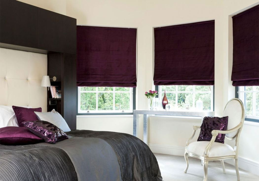 Thermal lined roman blinds