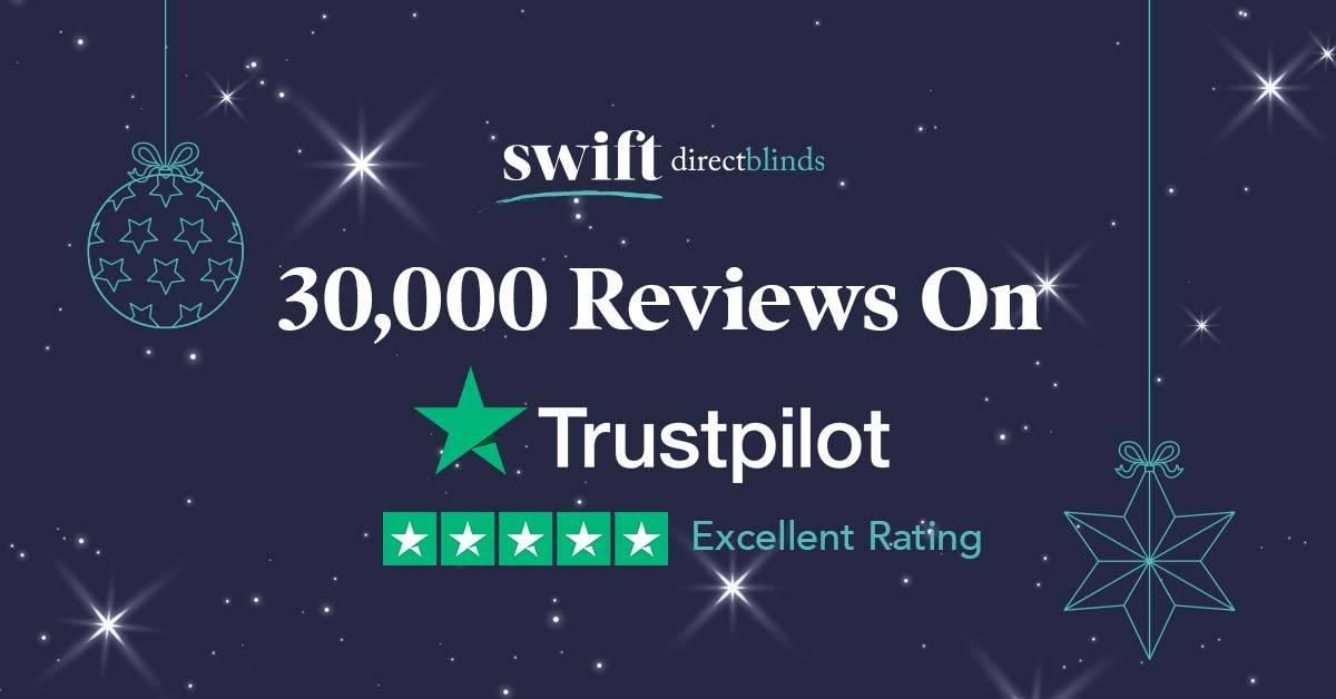 Swift Direct Blinds reaches 30,000 reviews on Trustpilot