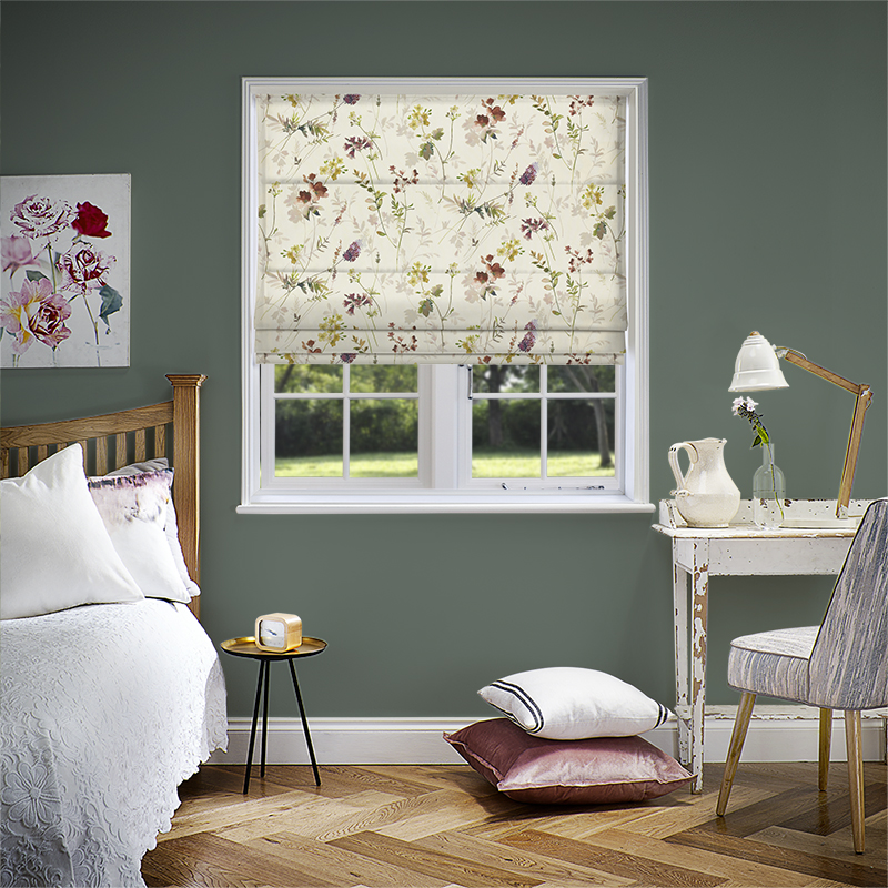 Tuileries Rose Quarts Roman Blind