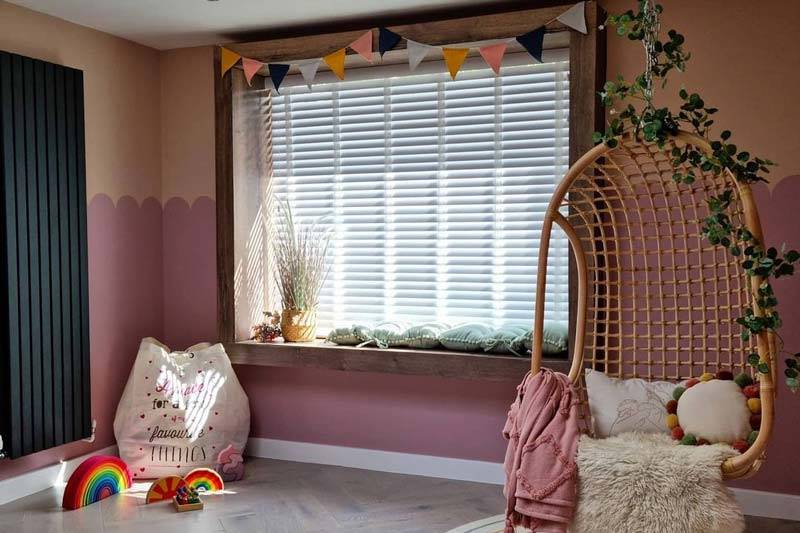 pink nursery from @thearchitects.daughter