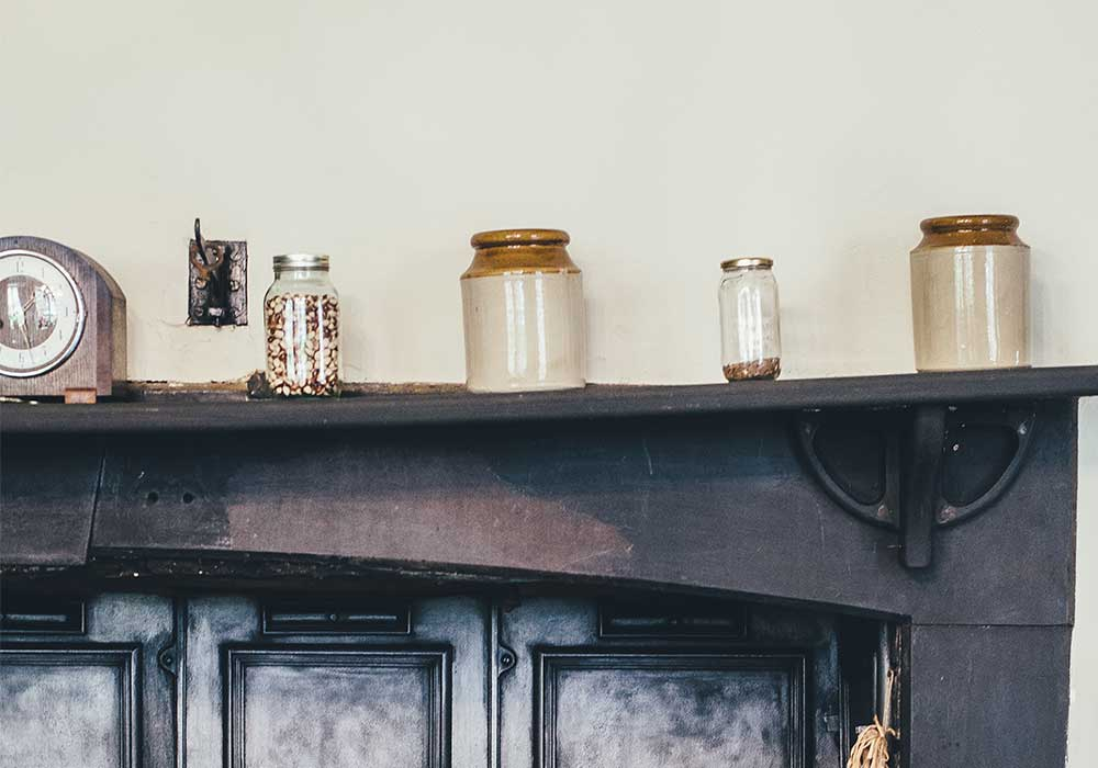 Vintage kitchen jars