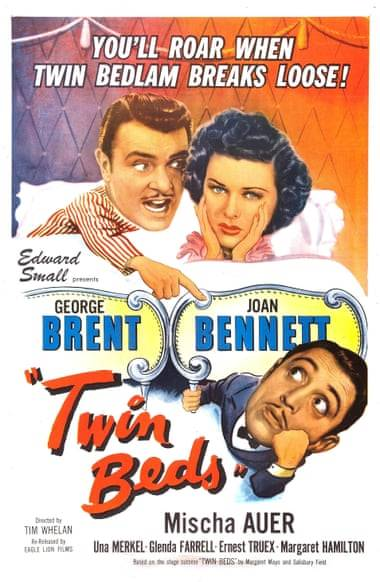 Poster showing 'Twin Beds' - 1942 Film