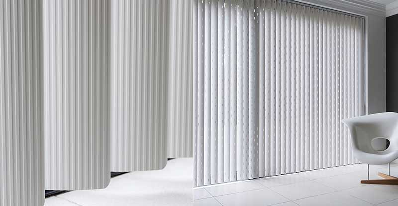 Examples of Rigid PVC Vertical Blinds.