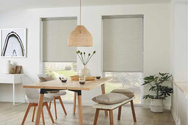 Eco friendly roller blinds dining room