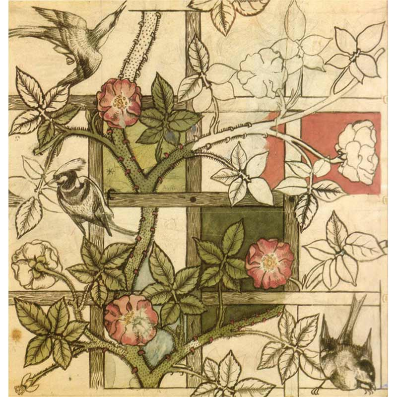 """Trellis"" Wallpaper, 1862, William Morris"