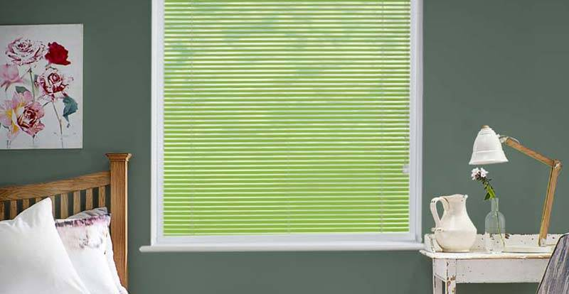 Green Perfect Fit Venetian Blinds