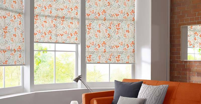 Orange Electric Roller Blinds
