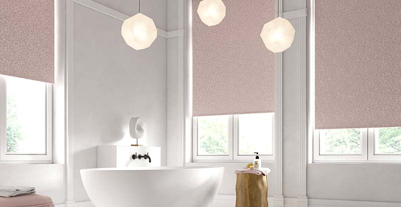 Pink Isla Sorbet Electric Roller Blinds