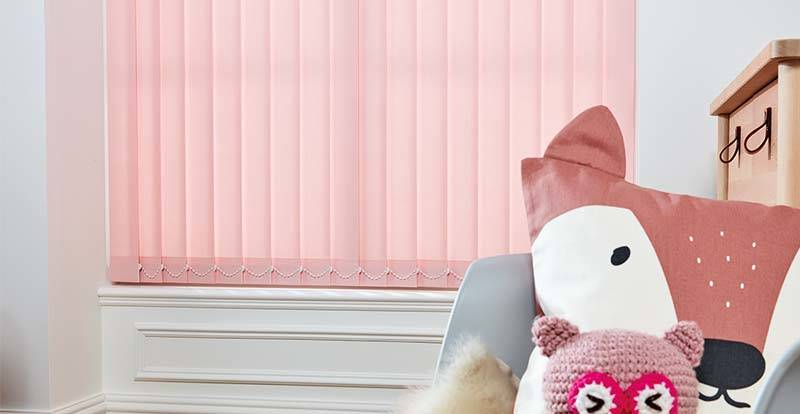 Pink Vertical Blind Slats