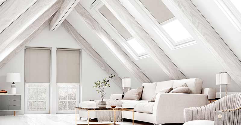Grey Skylight Blackout Blinds