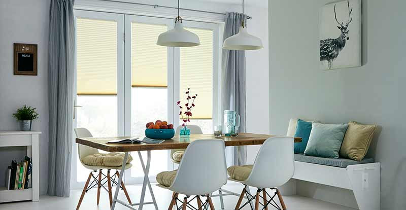Thermal Neat Fit Blinds in a dining room