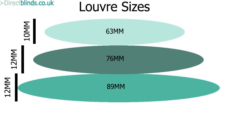 Shutter Louvre Sizes