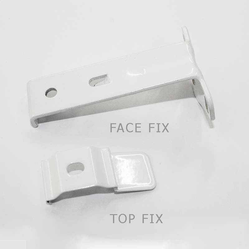 6. Top and face fix brackets