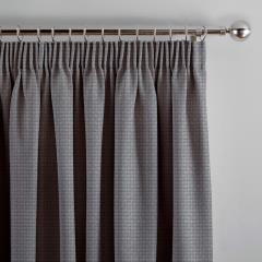 Curtains Basket Weave Silver Grey