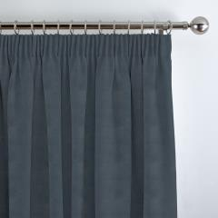 Curtains Faux Suede Denim