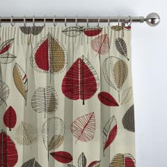 Curtains Maple Red Berry