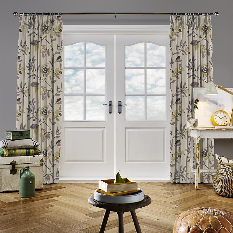 Adara Print Chartreuse Curtain Direct Blinds