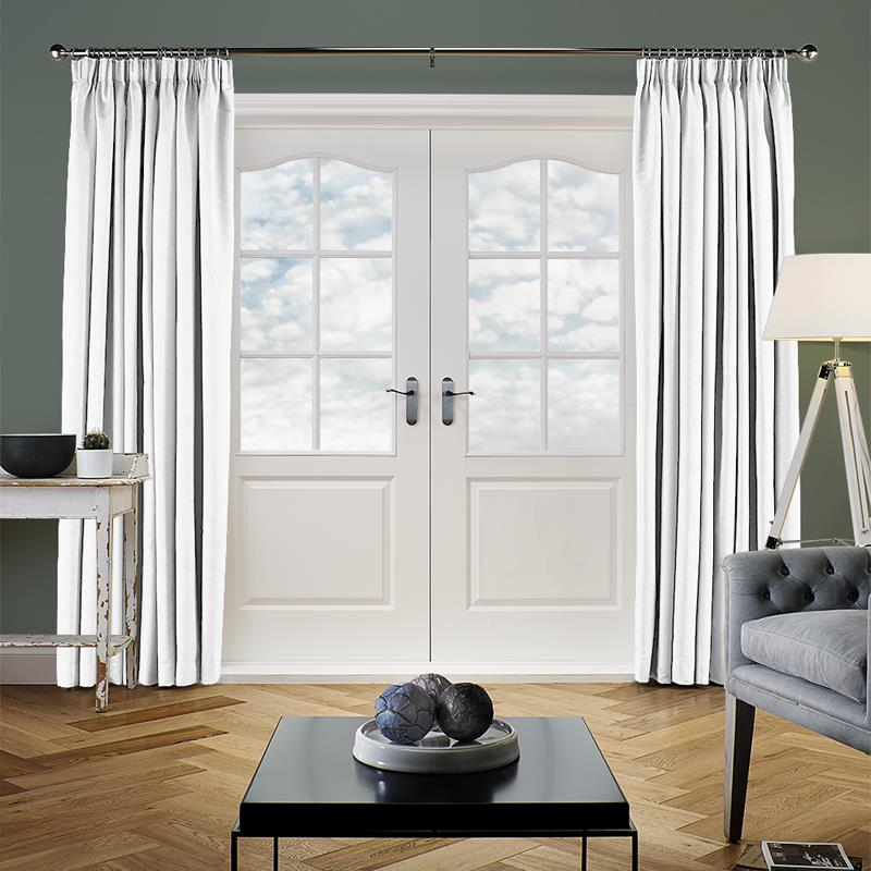 Faux Suede White Curtain Direct Blinds
