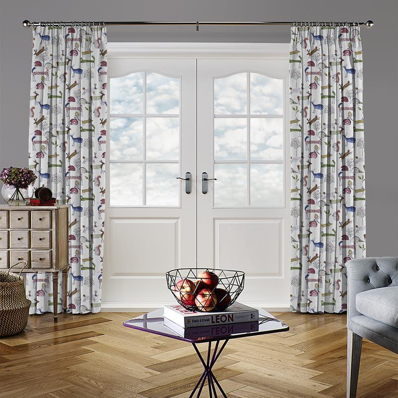 Oh Deer Berry Curtain Direct Blinds