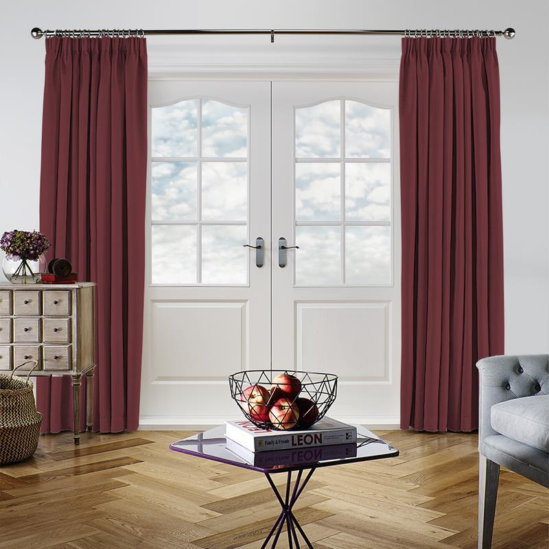 Panama Claret Curtain Direct Blinds