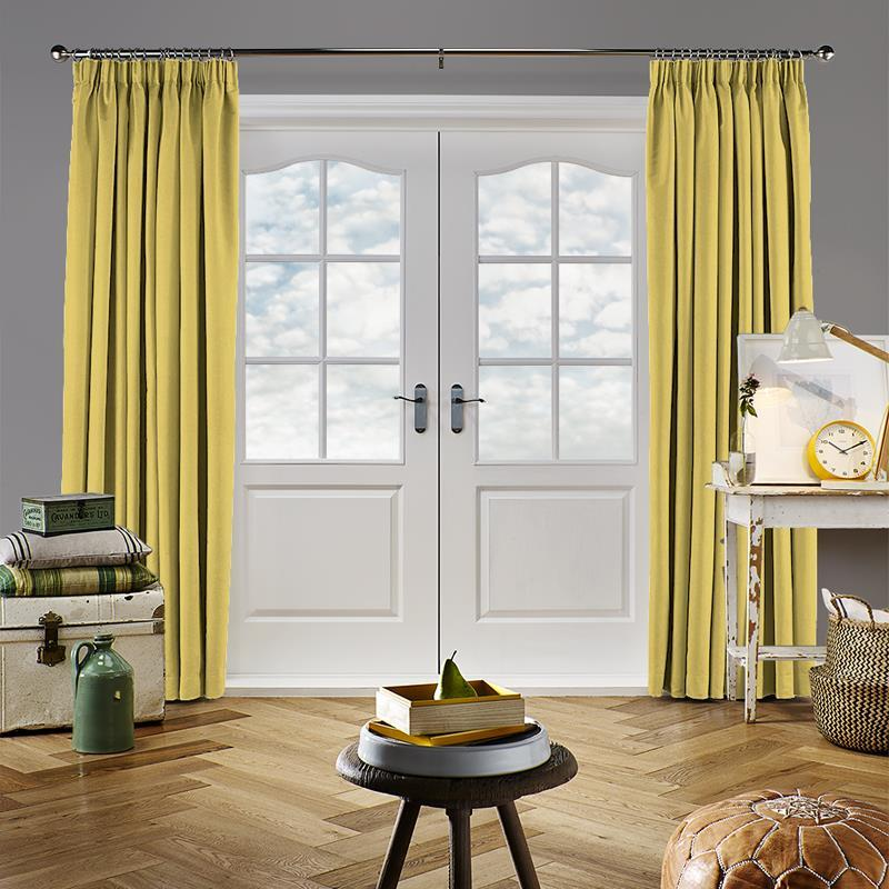 Panama Lemon Curtain Direct Blinds