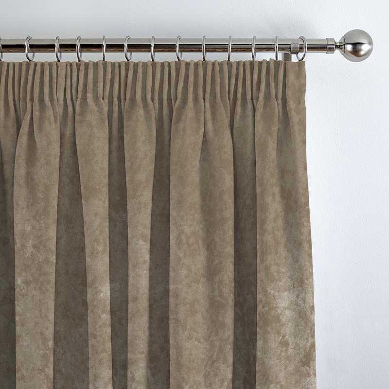 Crushed Velvet Ivory Curtain Direct Blinds