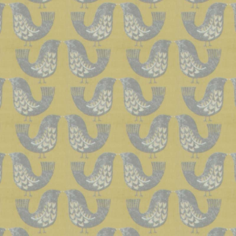 Scandi Birds Mustard swatch