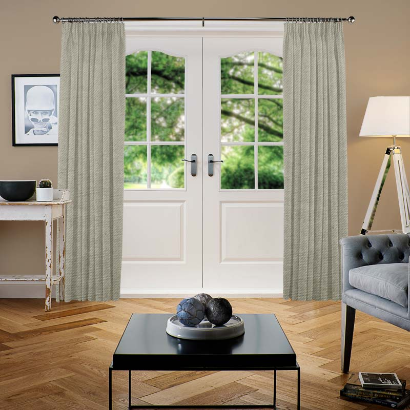 Malta Silver Grey Curtain Direct Blinds