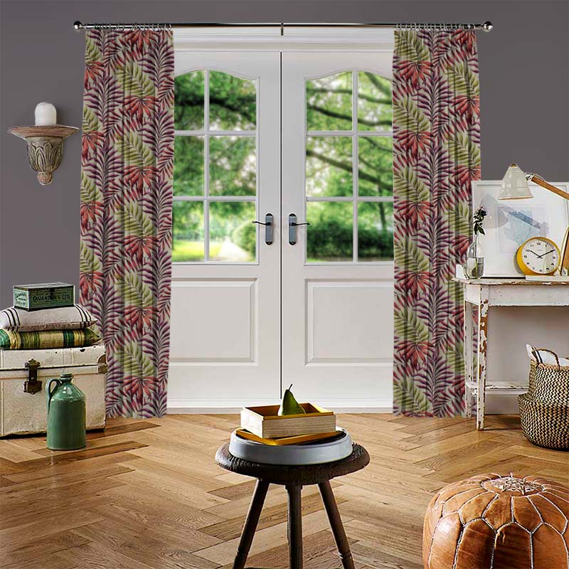 Manila Cranberry Curtain Direct Blinds