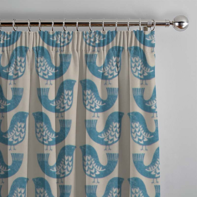Scandi Birds Capri Curtain Direct Blinds