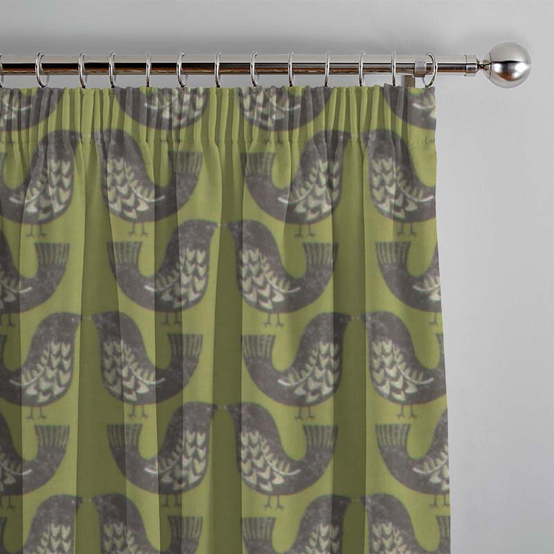 Scandi Birds Kiwi Curtain Direct Blinds