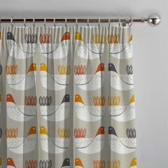 Curtains Cluck Cluck Tangerine