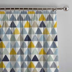 Curtains Pyramids Ochre