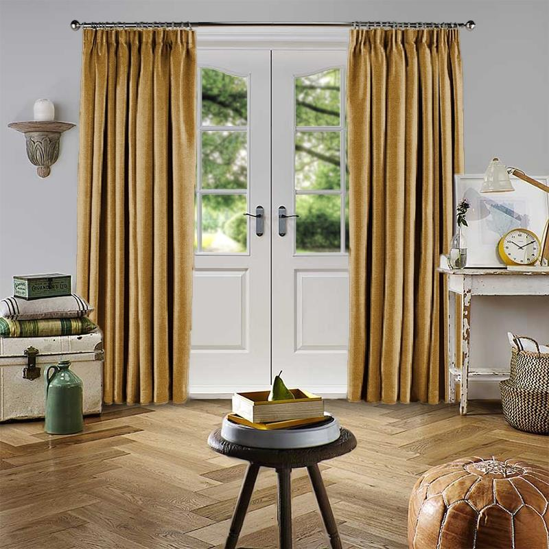 Velour Gold Curtain Direct Blinds