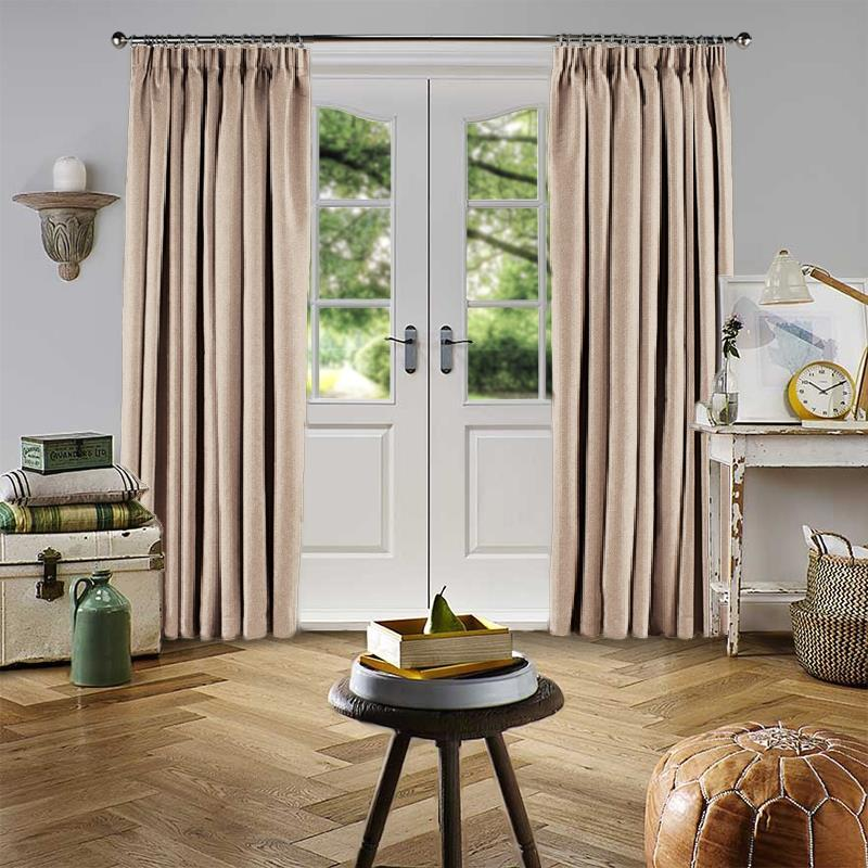 Velour Taupe Curtain Direct Blinds