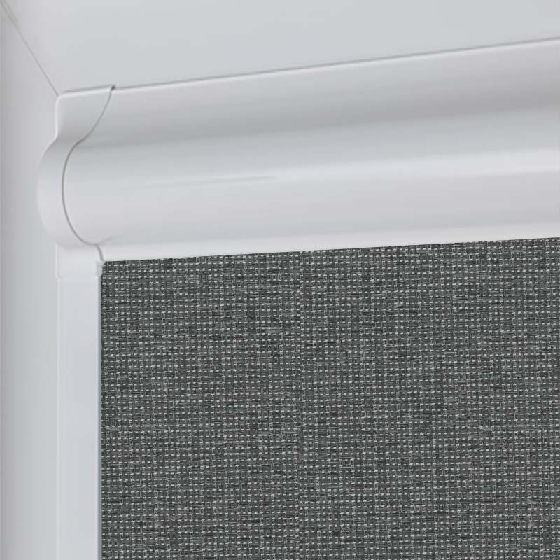 Marlow Blackout Graphite Perfect Fit Roller Blind Direct