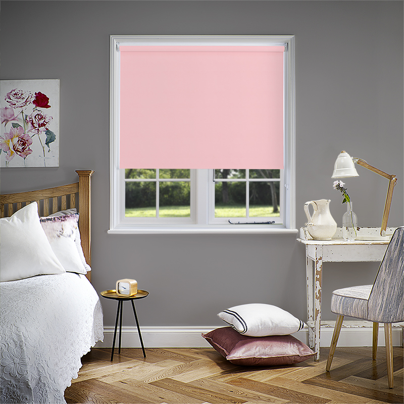 Pink Electric Roller Blinds. Made to Measure from Direct Blinds