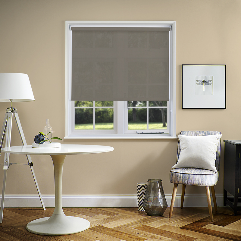 grey open blind linen lifestyle vertical blinds dove