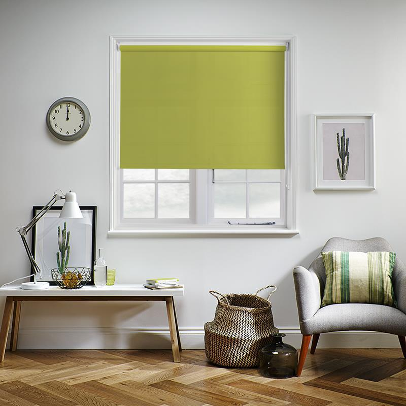 Bermuda Plain Lime Roller Blind Direct Blinds