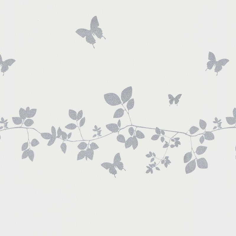 Vine And Butterfly Silhouette